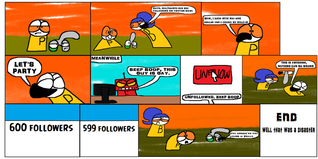 Phillo and Greyeen: 600 Followers on Twitter by Waltman13
