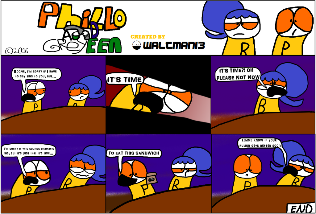 Phillo and Greyeen: Phillo's poorly executed humor by Waltman13