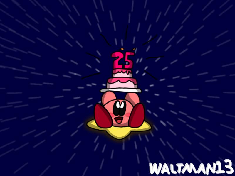 Kirby 25th Anniversary by Waltman13
