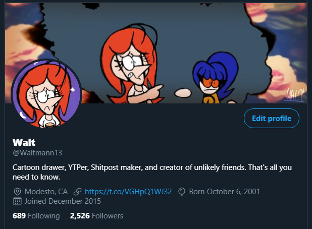 Who burned a hole in my twitter dot com banner? by Waltman13 on