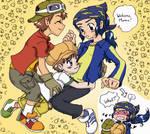 Digimon04 - Takouji welcome mama!