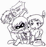 Young Justice - Superboy/Robin/KidFlash chibi love