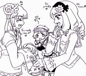 Rune Factory 2 - Yue+Julia pretty girls by Cloud-Kitsune