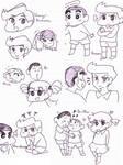 Shin-Chan - Practice Doodles