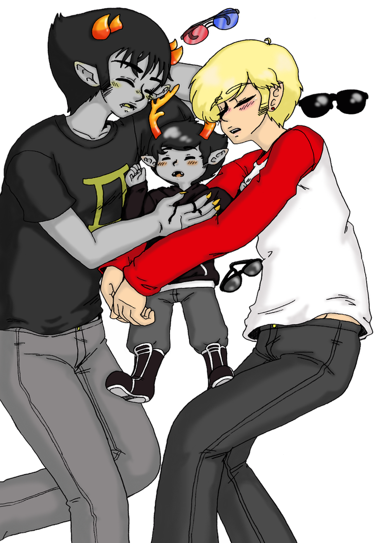 Homestuck sollux x dave dammek family nap by cloud kitsune on