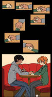 Young Justice - Jaime x Bart hold my hand