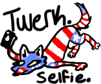 Murica woof by TsukiTheHegehog