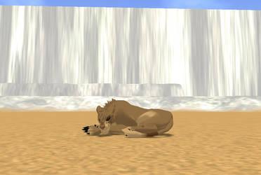 Sleepy Lioness by TsukiTheHegehog