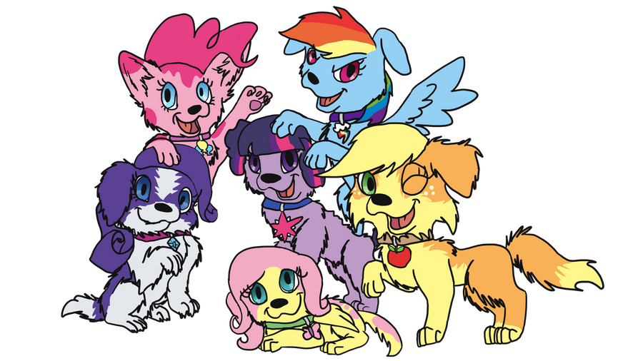 My Little Ponies as Dogs by allissajoanne4