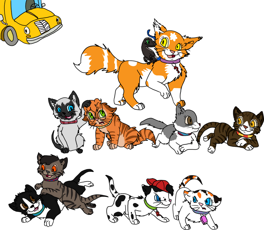Magic School Bus Drawing Magic School Bus Kittens by