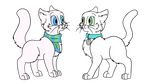 Two White Cats by allissajoanne4