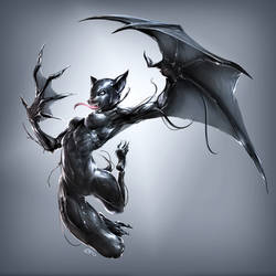 Nocturne - Bat Form by GeckzGo