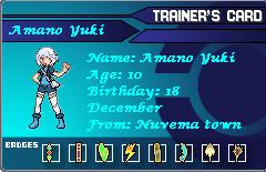 Pokemon OC: Amano Yuki Trainer Card by Jusace
