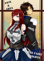 C: Jack and Erza Fairy Knights by Jusace