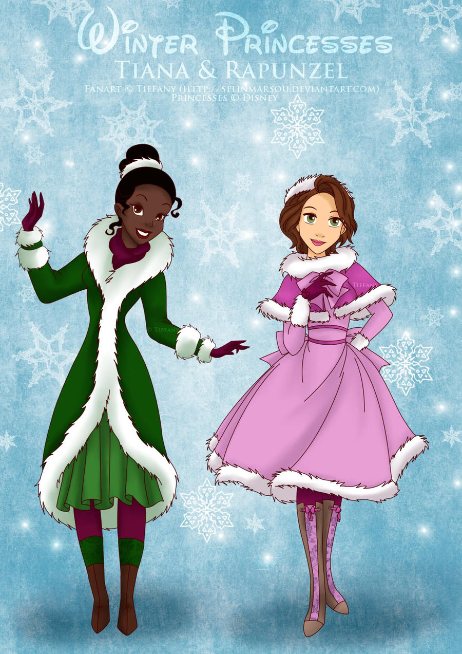 Winter Tiana n Rapunzel by selinmarsou
