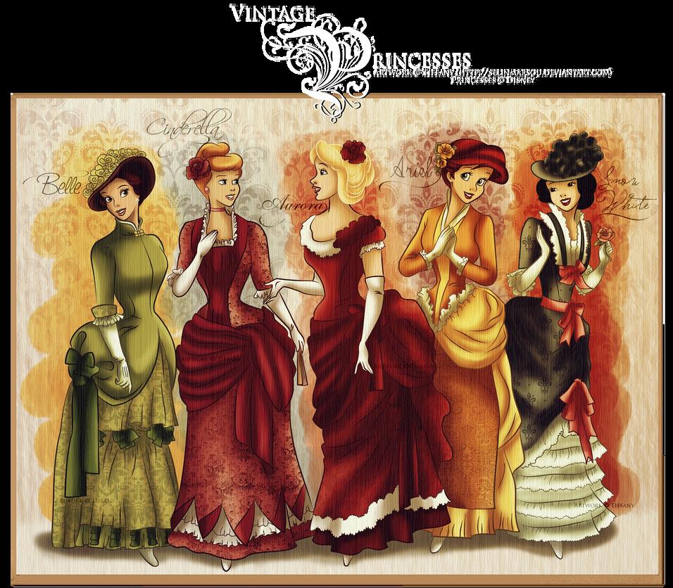 Vintage Princesses by selinmarsou