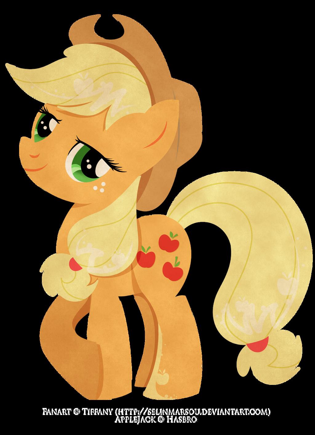 Paper Pony - Applejack by selinmarsou