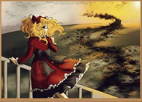 Candy Candy manga coloring - Sunset by tiffanymarsou