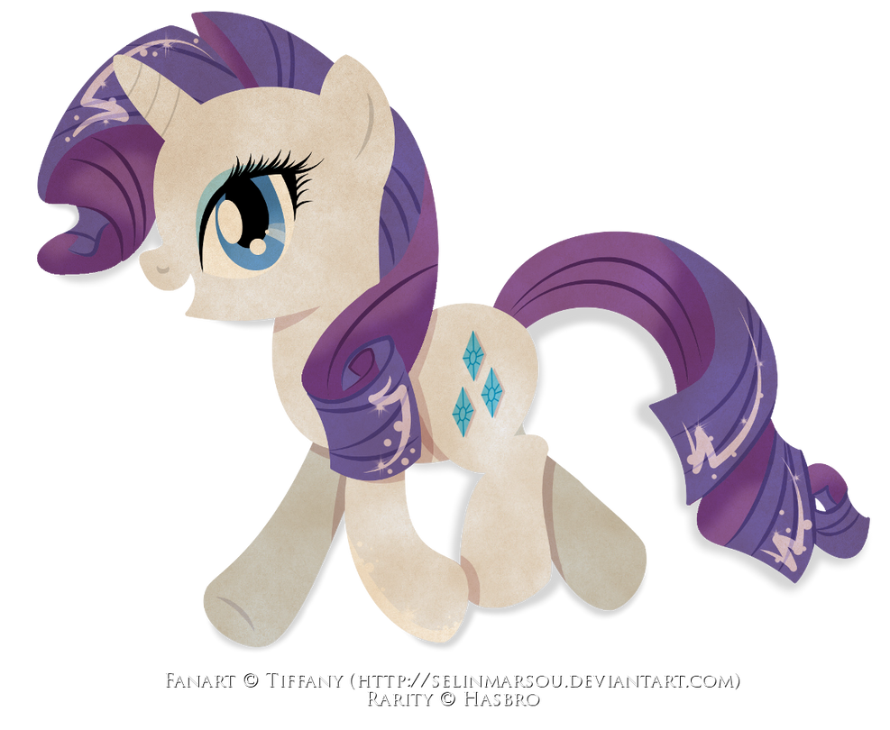 Paper Pony - Rarity by selinmarsou