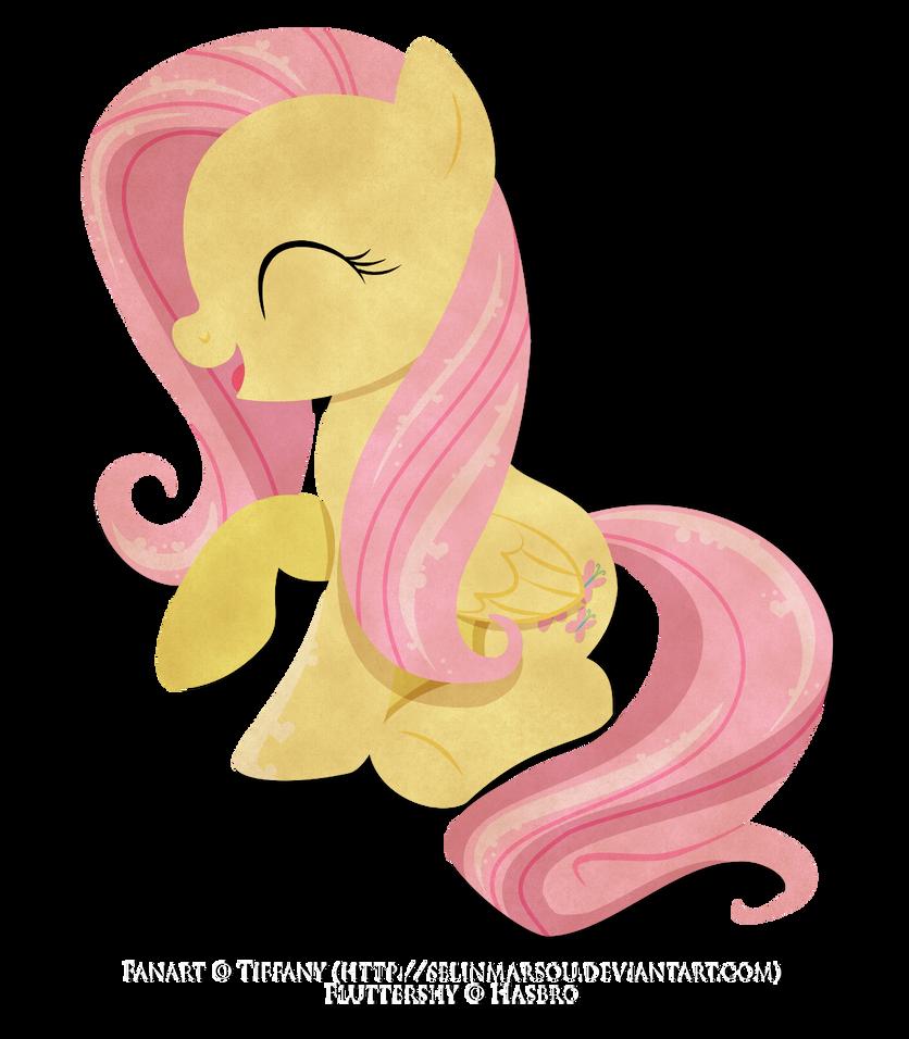Paper Pony - Fluttershy by selinmarsou