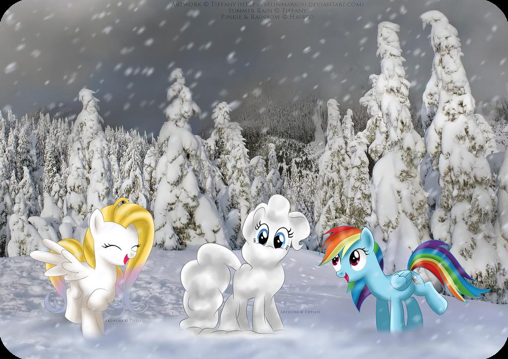 Snowponies by selinmarsou