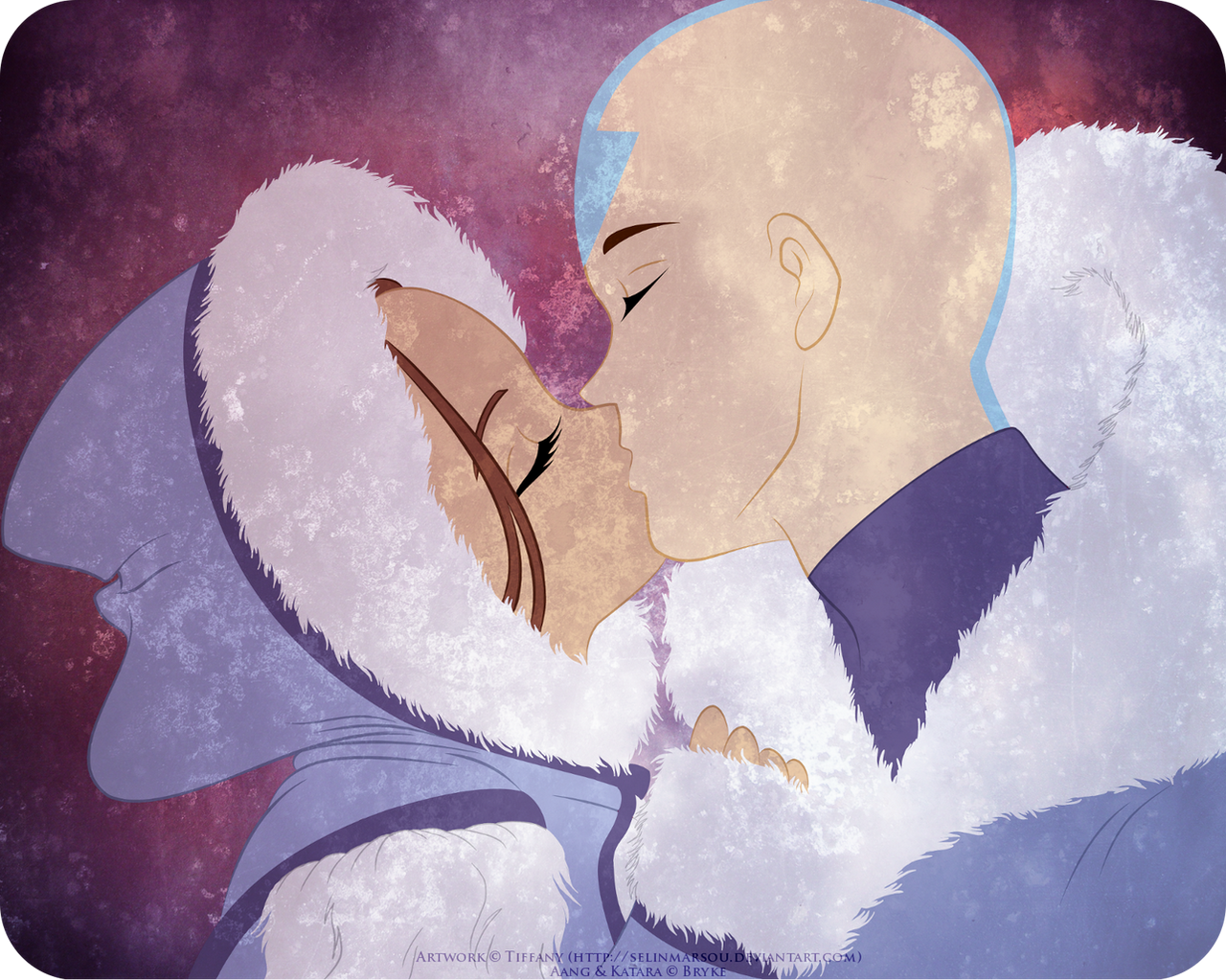 Age switch - Aang and Katara by selinmarsou