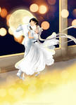 waltz in a White dress by tiffanymarsou
