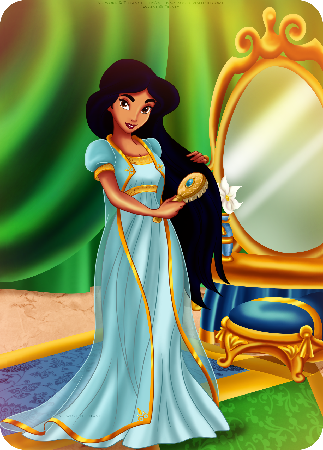 Goodnight princess by selinmarsou on deviantart - Princesse jasmine disney ...