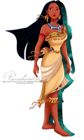 Pocahontas's new outfit by tiffanymarsou