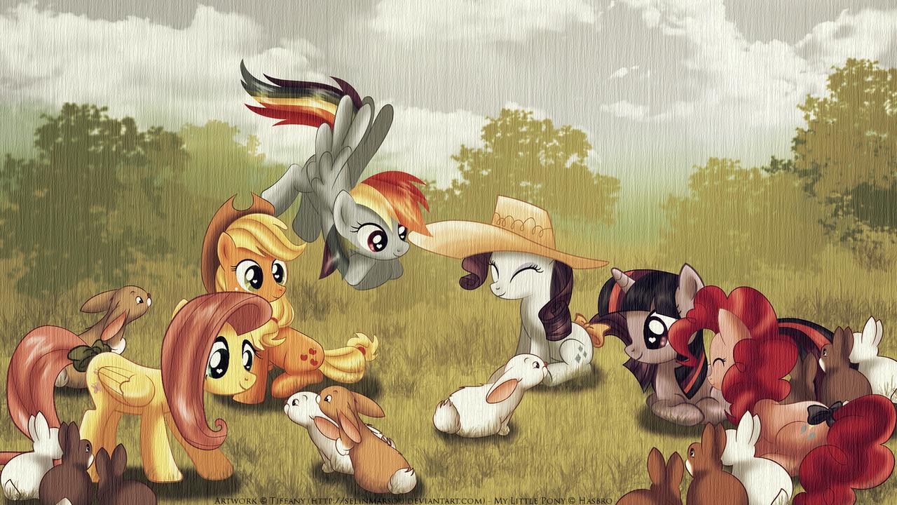 Easter ponies by selinmarsou
