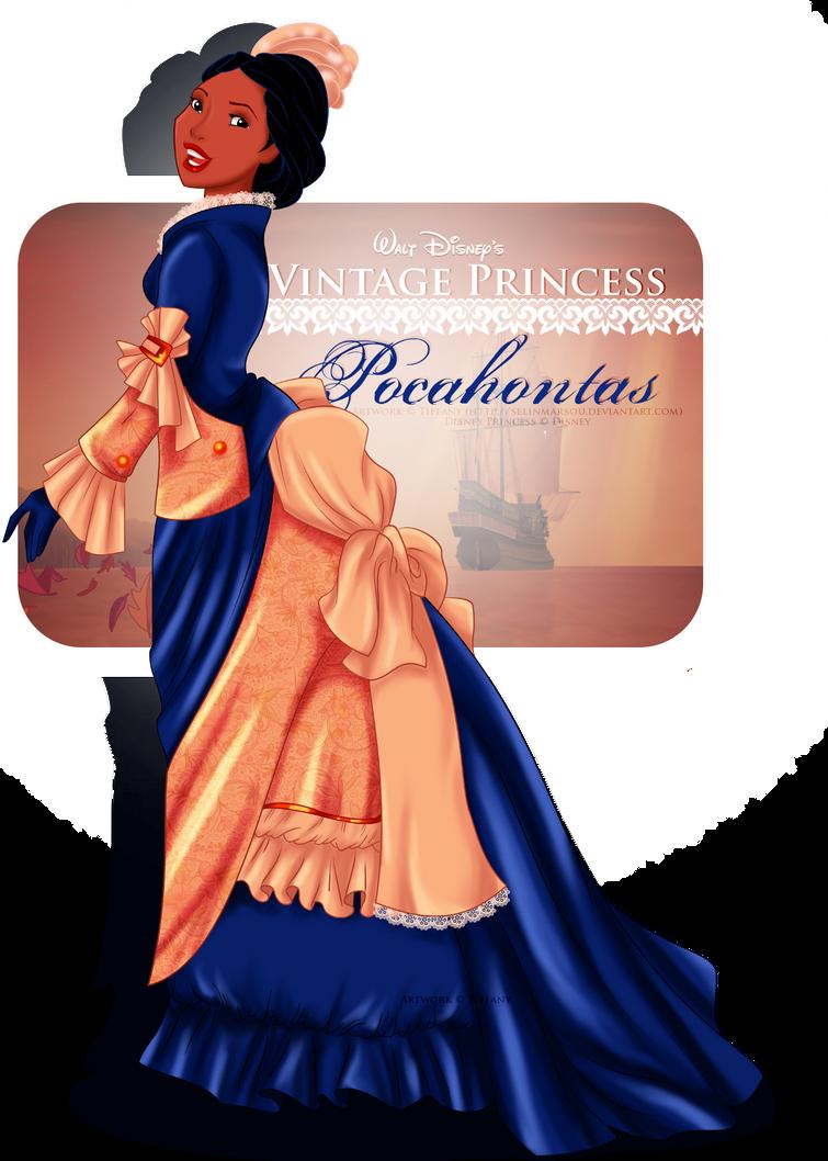 Vintage Princess -Pocahontas by selinmarsou