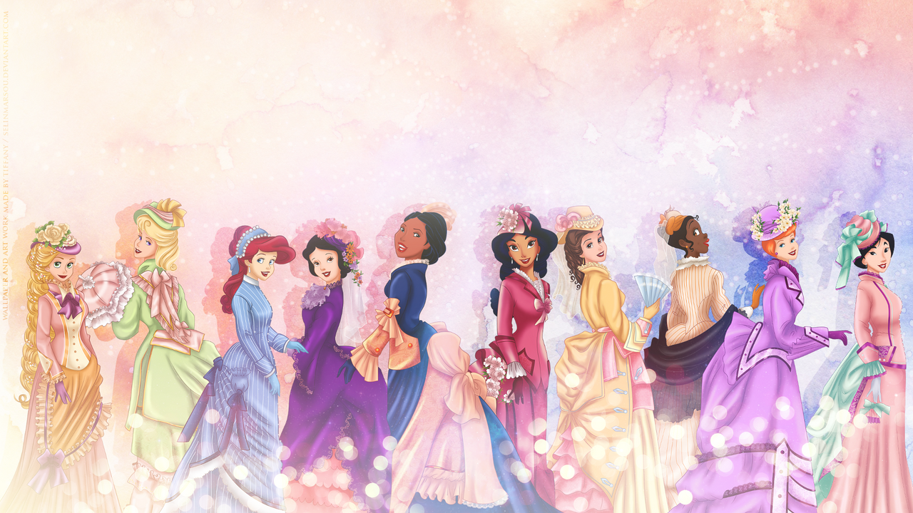 vintage princesses wallpaper by selinmarsou on deviantart