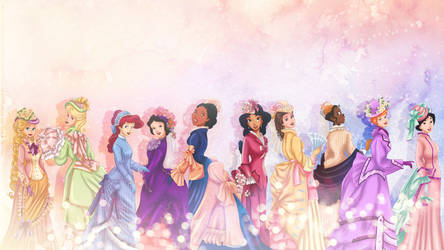 Vintage Princesses   wallpaper by tiffanymarsou