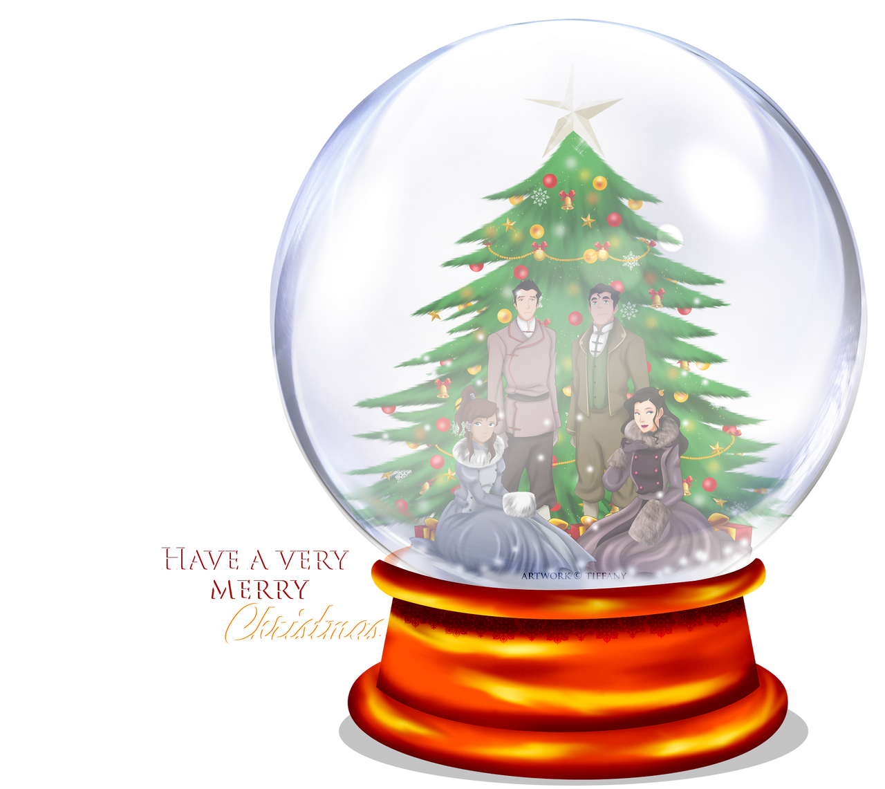 Christmas Snow Globe by selinmarsou