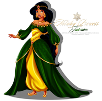 Holiday Princess Doll - Jasmine by tiffanymarsou