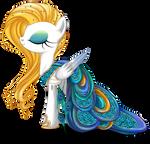 Peacock Gala Dress for Summer Rain