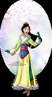 Winter Princess - Mulan by tiffanymarsou