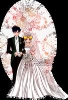 Wedding Day - Usagi and Mamoru by tiffanymarsou