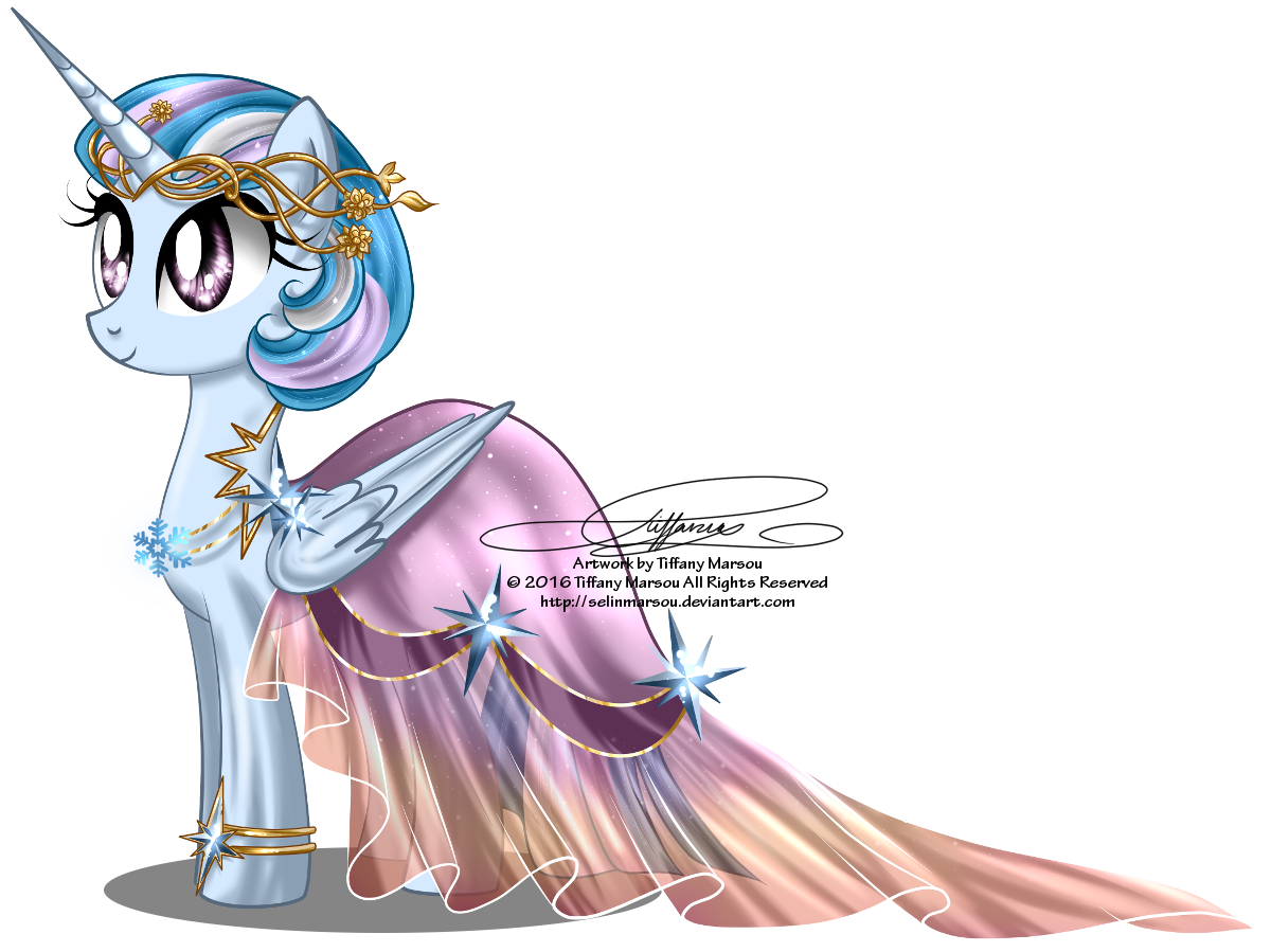 Commission - Gala Gown for Winter Dawn by selinmarsou