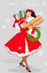 Xmas Postcard - Snow White