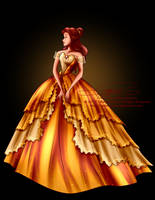 Disney Haut Couture - Belle by tiffanymarsou