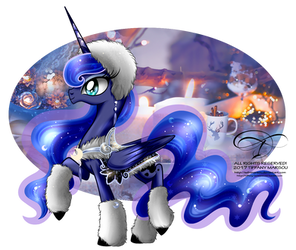 Winter Pony - Princess Luna by tiffanymarsou