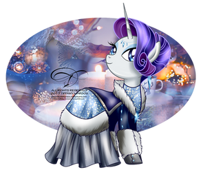 Winter Pony - Rarity by tiffanymarsou
