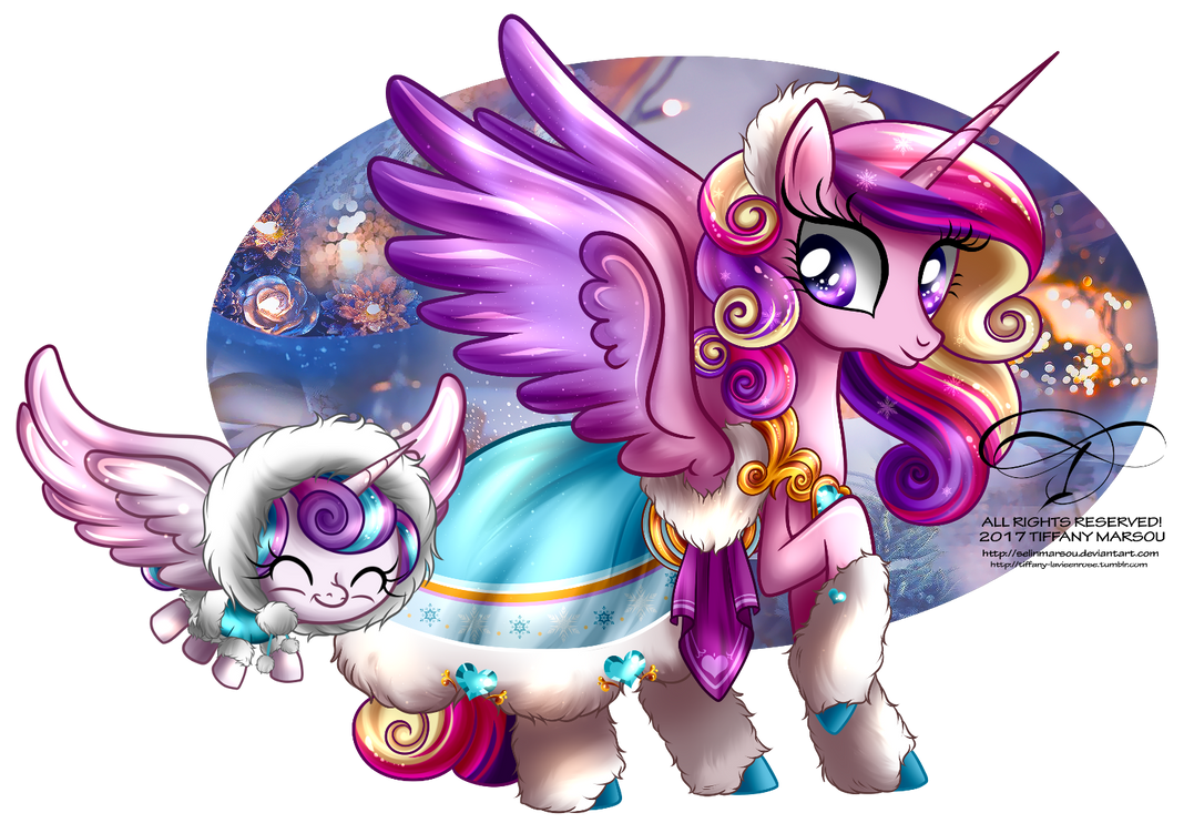 Winter Pony - Princess Cadence and Flurry Heart
