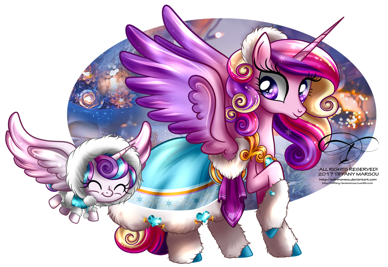 winter_pony___princess_cadence_and_flurr