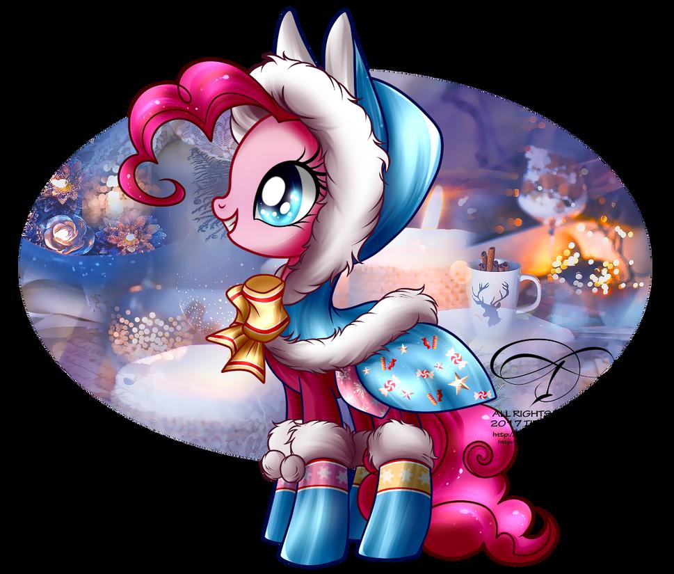 winter_pony___pinkie_pie_by_selinmarsou-