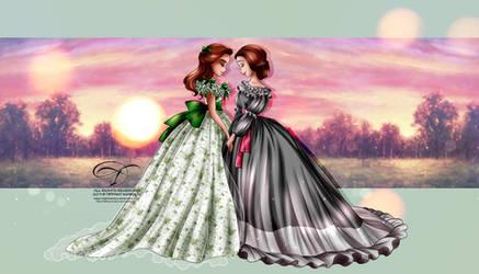 Scarlett and Melly by tiffanymarsou