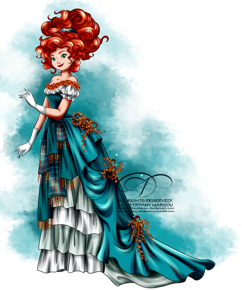Vintage Ballgown - Merida by tiffanymarsou on DeviantArt