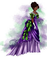 Vintage Ballgown - Esmeralda by tiffanymarsou