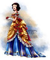 Vintage Ballgown - Snow White by tiffanymarsou